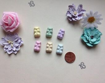 Flatback gummy bears sweets embellishments deco pack of 6