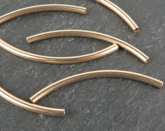 Gold Filled Curved Tube 35mm x 2mm