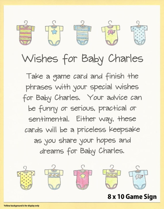 Wishes For Baby Shower Game Easy Baby Shower Games Couples
