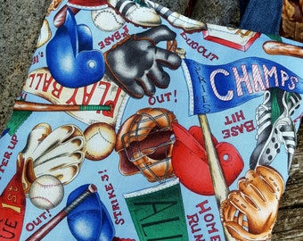 Toddler Sports Tote, Boys Baseball Bag, Toy Bag, Preschool Bag