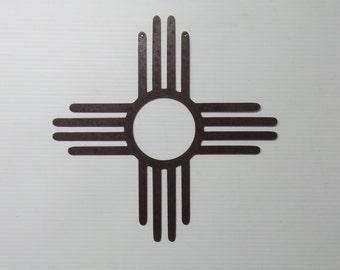 New Mexico 18 inch Zia Sun Symbol -  Metal Sign Z2