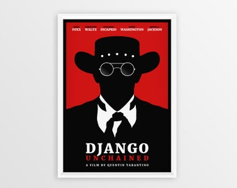 Printable Django Unchained Film Poster // Quentin Tarantino // Digital File Download // A2