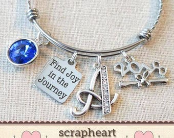 Gifts for Grads, Find JOY In The JOURNEY SENIOR Gift, 2018 Graduation Gift, Inspirational Gift for Graduate, Find Joy in the Journey Bangle