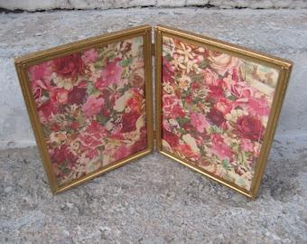 gold tone metal bifold frames 8 by 10 bifold frames ornate gold metal frames grannie chic