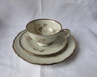 Bavaria Zeh Scherzer  Trio Cup Saucer Cake Plate Porcelain Porzellan retro vintage 50's
