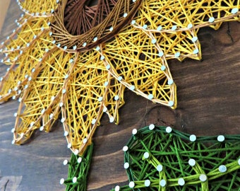 Sunflower String Art Kit - DIY Kit, Adult Crafts, Sunflower Lover, Mother's Day Gift, Gift for Mom, Crafts Kit, Sunflower Gift, String Art