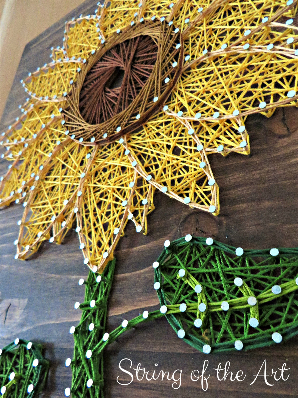 Sunflower String Art Kit DIY Kit Adult Crafts Sunflower