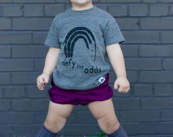 defy the odds gray tee kids shirt empowerment tee boys and girls shirt hipster kids clothing trendy kids clothes boys graphic tee girls tee