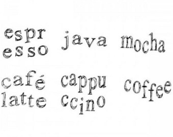 Cofffee Talk Espresso Java Mocha Cafe Collection Cube Stampington And Co Wooden Rubber Stamp