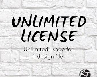 Unlimited License Svg, Svg License, Svg, Unlimited Svg, Svg Unlimited License, Svg Files for Cricut, Dxf, Eps, Decal, Printable