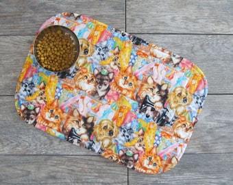 Cat Food Placemat - Dog Food Placemat - Cat Food Mat - Dog Food Mat - Pet Placemat