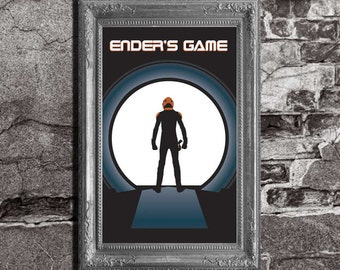 Ender's Game - Enders Game Inspired - Orson Scott Card - Movie / Book Art Poster