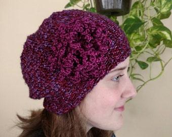 Beanie with flower - crochet pattern