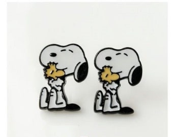 Snoopy and Woodstock Stud Earrings
