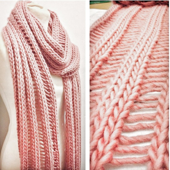 Make Your Own Beginner Drop Lay Scarf Knitting Kit