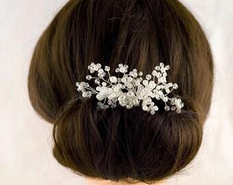 Bridal Hair Comb Wedding Hair Comb Silver Hair Comb Bridesmaid's Hair Comb Bride Hair Accessory