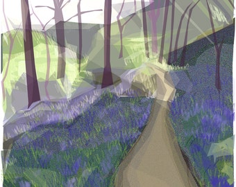Walk in the woods, Spring .. mounted giclee print