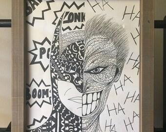 Batman/Joker Print