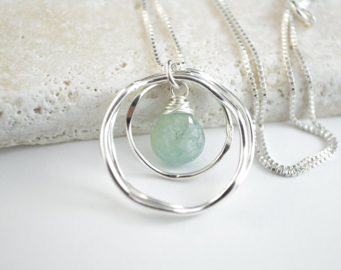 30th birthday gift for her,Aquamarine necklace, March birthstone necklace, 30th birthday gift for women, Birthday gifts