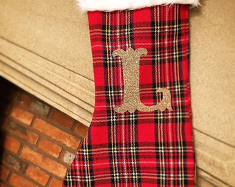 Personalised tartan Christmas Stocking