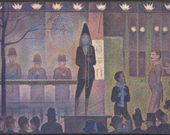 Georges Seurat: Circus Sideshow. Fine Art Print/Poster. (004149)