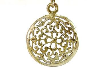 Filigree gold earrings, Mandala earrings, gold filled earrings, Dainty Simple, round earrings, gift for her, lace earrings,