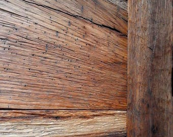 Authentic Aged Oak Wood Accent Wall Siding (250 cm long), 100+ Year Old Reclaimed wood oak siding, Reclaimed wood panels