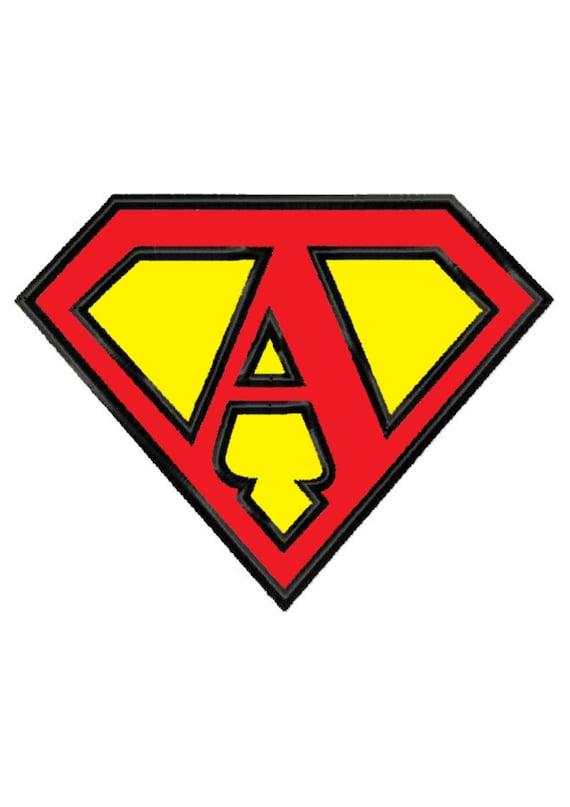Superman Letter A...Instant Download...Applique Machine ...