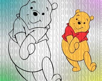 Winnie-the-Pooh svg, Winnie-the-Pooh  clipart, Disney  eps, Disney Winnie Pooh eps ,Winnie Pooh svg, Winnie Pooh cutting, Winnie Pooh  decor