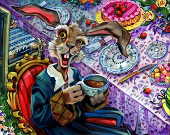 March Hare print by Shaunna Peterson