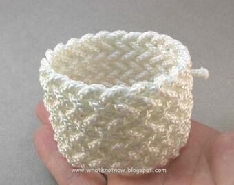 wide weave herringbone rope bracelet knotted nautical style bracelet adjustable bracelet nylon rope jewelry 2768