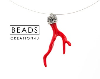 never leather beads models shipping buy jewelry online product natural red couple women genuine men and to loose with fade send store four coral pendant rhinestones cord