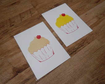 Cupcake - A4 Two Colour Screenprint