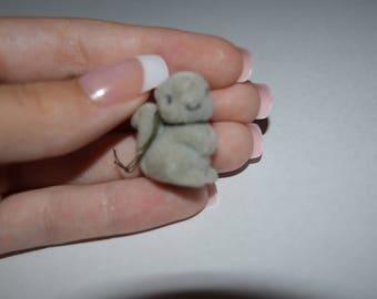 gray little bunny
