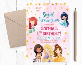 Princess invitations etsy filmwisefo Images