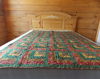 Log Cabin Wallhanging/Lap Quilt -FREE SHIPPING!!!