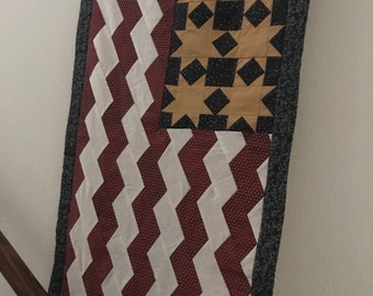 Quilted hanging American flag