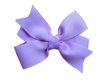 Light purple hair bow - hair bows, bows, hair bows for girls, baby bows, baby hair bows, pigtail bows, toddler bows, hair clips, hairbows