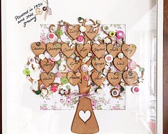 Extra Large family Tree 50x50 Floral posy