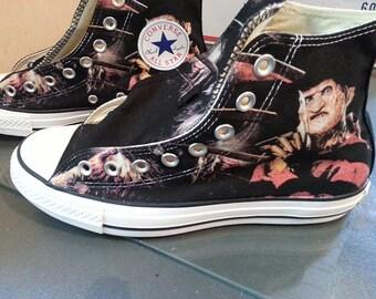 Freddy Krueger Custom Converse All Stars