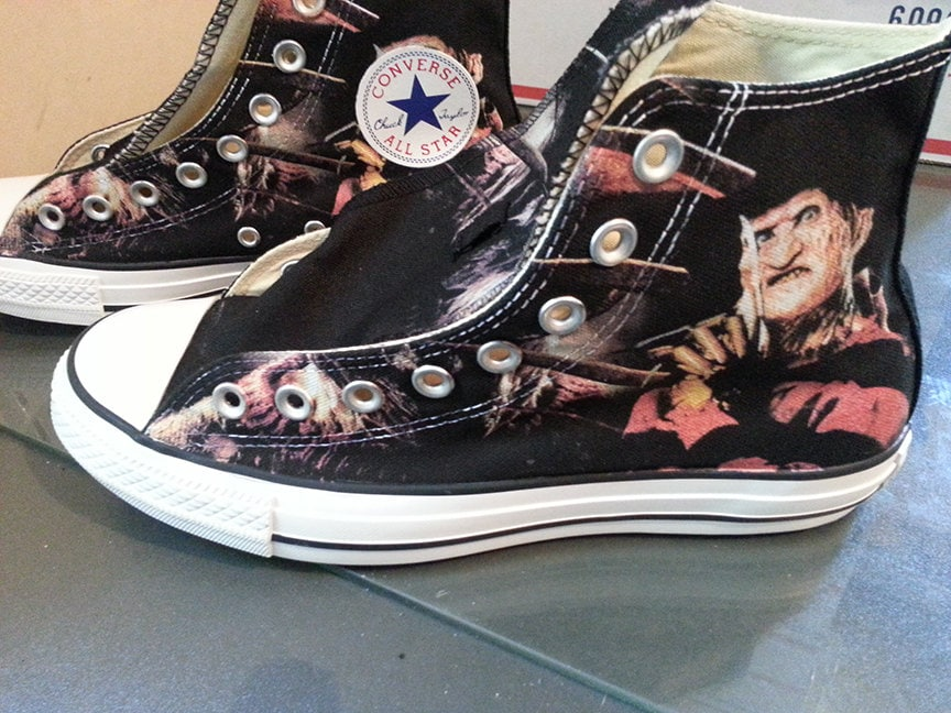 fetching how to design converse shoes at home.  Freddy Krueger Custom Converse All Stars