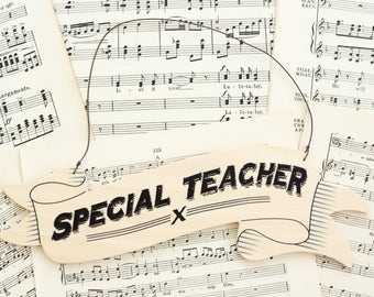 Special Teacher Hanging Sign