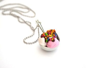 Ice Cream Bowl collar, Triple sabor postre encanto