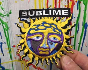 Sublime sun iron on patch