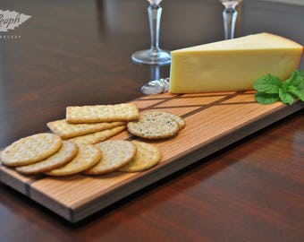 Hardwood Cheese Board with Inlaid Features