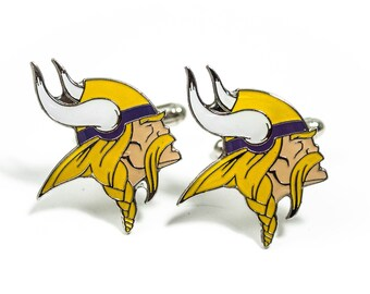 Minnesota Vikings Cuff Links -- FREE SHIPPING with USPS First Class Domestic Mail