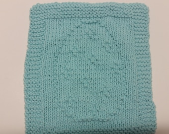 Knit Easter Egg Dishcloth/Washcloth