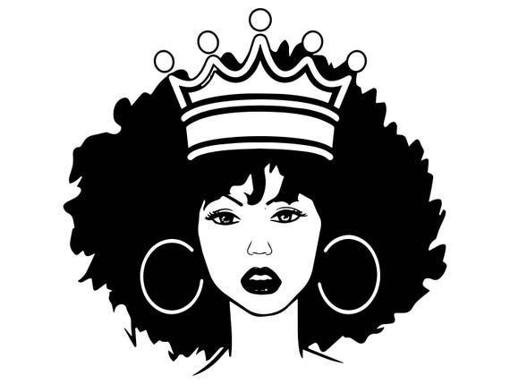 Black Woman Nubian Princess Queen Afro Hair Beautiful African