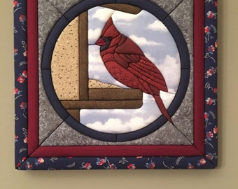 Cardinal fabric wall art