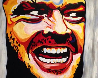 Jack Nicholson The Shining Painting Acylic on Canvas